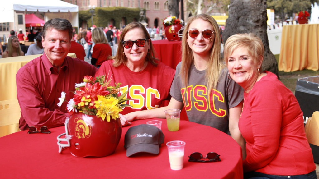 Lauren Brophy tailgating with her family.